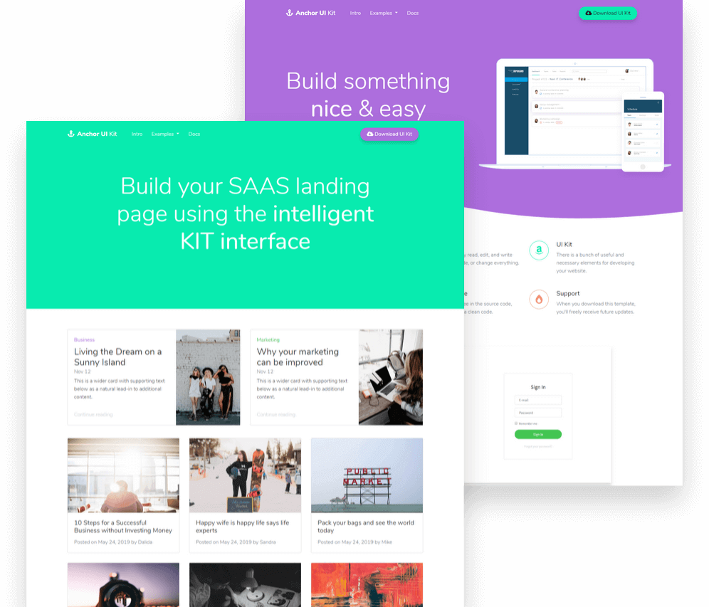Anchor UI Kit preview