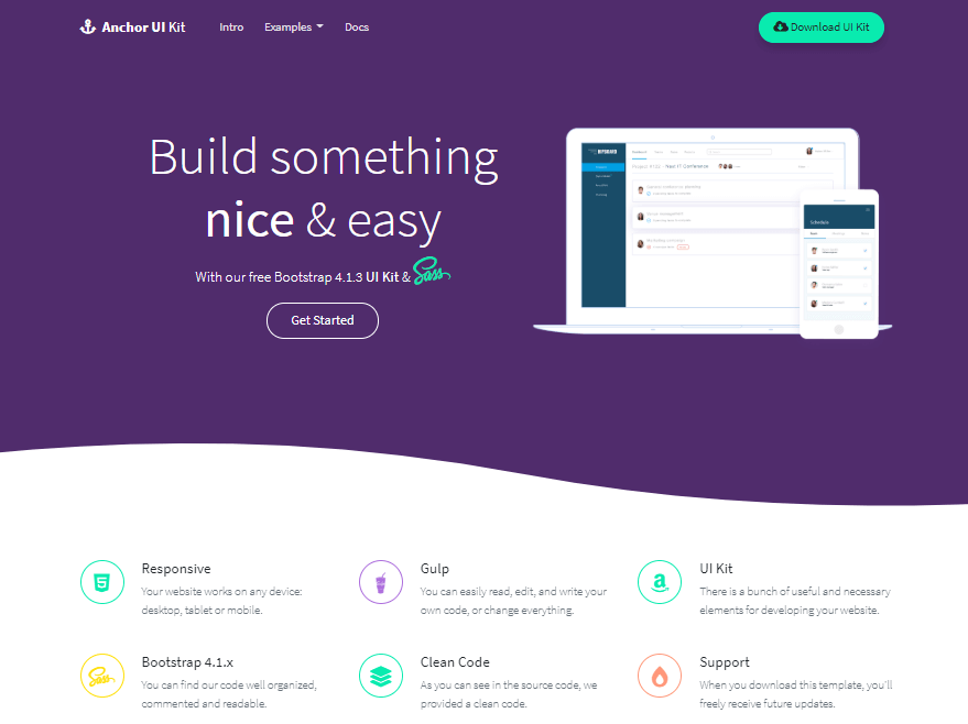 anchor - free bootstrap 4 ui kit